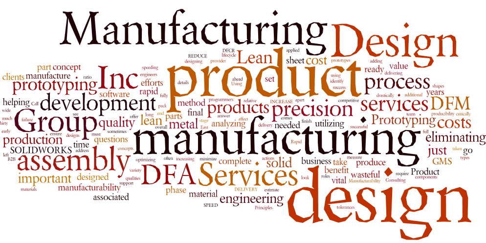 Design engineering group manufacturing services for Product design for manufacturing